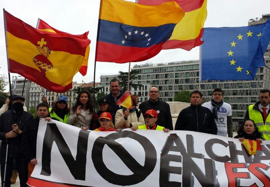 """VOX se suma a la concentración contra el """"Movimiento Bolivariano"""" extremista podemita"""