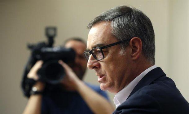 El vicesecretario general de Ciudadanos, José Manuel Villegas, durante la rueda de prensa. Efe.