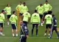Los 11 Real Madrid ante el partido contra Real Sociedad en el estadio de Anoeta (Gipuzkoa)