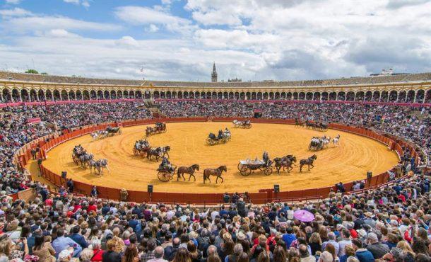 Exhibición de Enganches en la Plaza de Toros de la Real Maestranza de Caballería de Sevilla