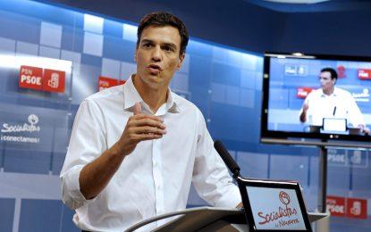 """Sánchez: """"Nuestro no a Rajoy es un sí a la regeneración, al empleo digno y a la justicia social"""""""
