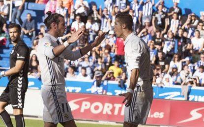 El Real Madrid sigue como un clavo líder de la liga con Cristiano y Morata, (1-4) contra Alavés