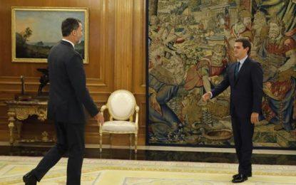 Albert Rivera explica al Rey la posición de C's ante una nueva sesión de investidura de Rajoy