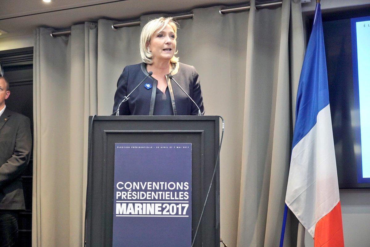 """Le Pen: """"A este gobierno efímero le pido la restauración inmediata de nuestras fronteras nacionales"""""""
