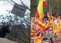 Lanzan una recogida de firmas por la libertad del catalán que arrancó el cartel separatista en Sallent