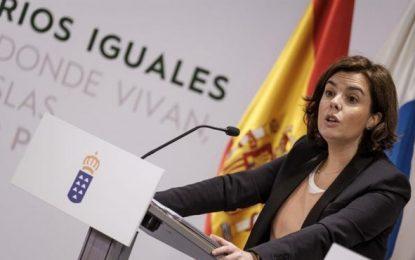 """Soraya: El separatismo """"ni pide ni ofrece diálogo"""", """"exige un referéndum contrario a la Constitución"""""""