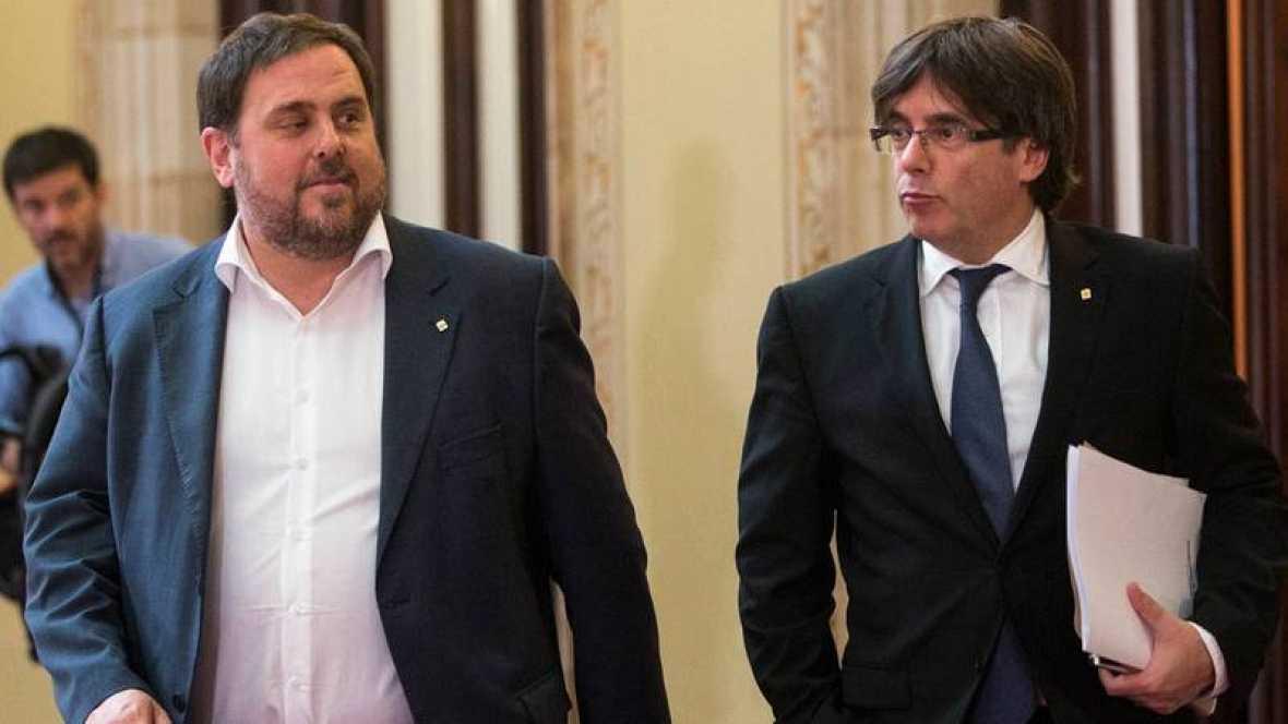 Puigdemont y Junqueras piden negociar un referéndum ilegal 'a la escocesa' en Cataluña