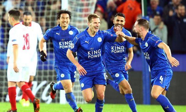 Doloroso adiós del Sevilla a la Liga de Campeones 2017 en Leicester (Reino Unido)