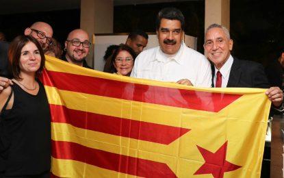 Maduro apoya el golpe de Estado separatista catalán, el chavismo con ÍTACA (Países Catalanes)