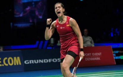La española Carolina Marín, campeona de Europa por tercera vez en Kolding (Dinamarca)