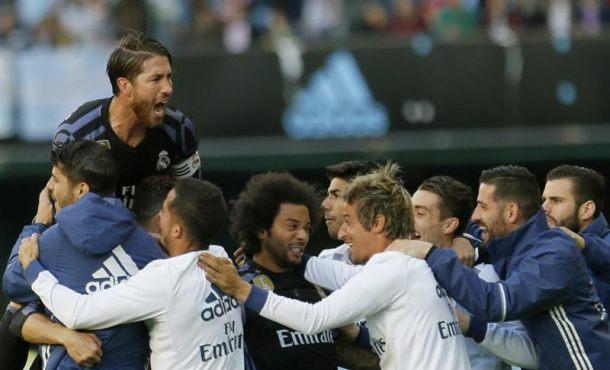 El Real Madrid gana el aplazado y recupera el liderato en Vigo (1-4)