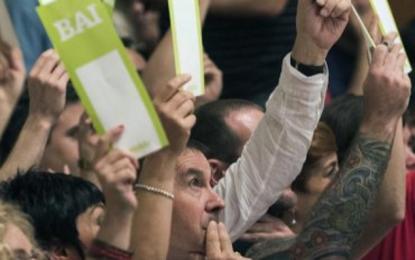 84 % de la militancia proetarra elige al ex líder de ETA Otegi, nuevo secretario general de EH Bildu