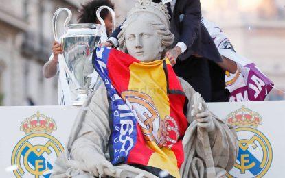 "'Diosa Cibeles' recibe la Duodécima Copa de Europa del ""mejor equipo del mundo"", Real Madrid"