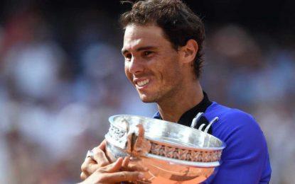 El español Nadal gana su décima Roland Garros, primer tenista, 10 veces con el mismo Grand Slam