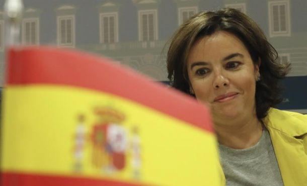 """Soraya: """"Al Estado le bastan 24 horas"""" para poner un punto final al referéndum en Cataluña"""