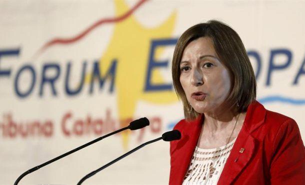 """Forcadell """"no cree"""" que Rajoy tenga el valor para intervenir en Cataluña, es """"muy complicado"""" de ejecutar"""