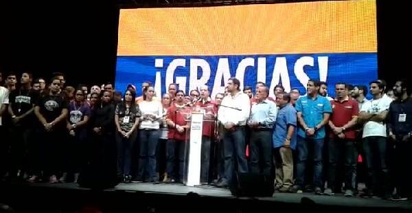 La oposición felicita a los venezolanos por su histórica participación en consulta de Venezuela