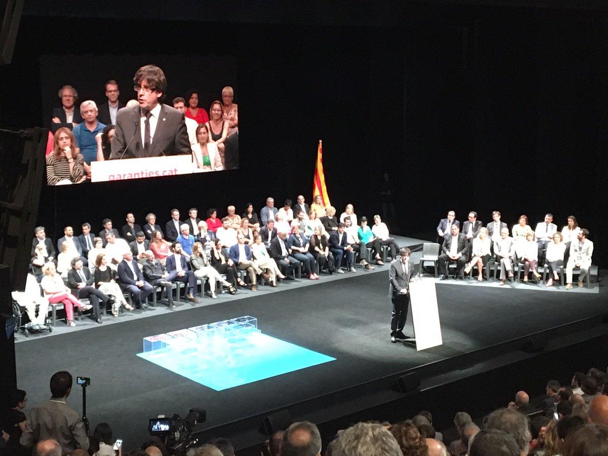 """Puigdemont: Ningún poder de España impedirá el referéndum , el separatismo""""hará posible la victoria"""""""