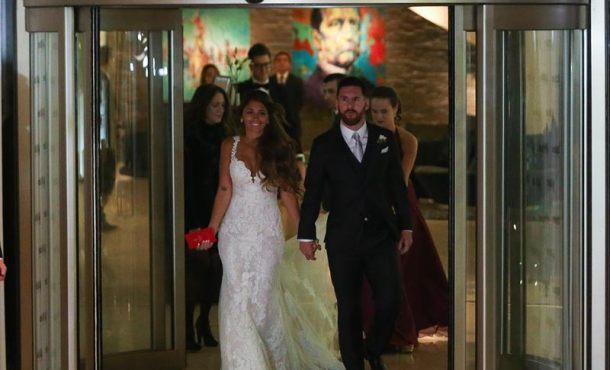 Antonela Roccuzzo y Lionel Messi se han casado en Rosario (Argentina) este viernes 30-J