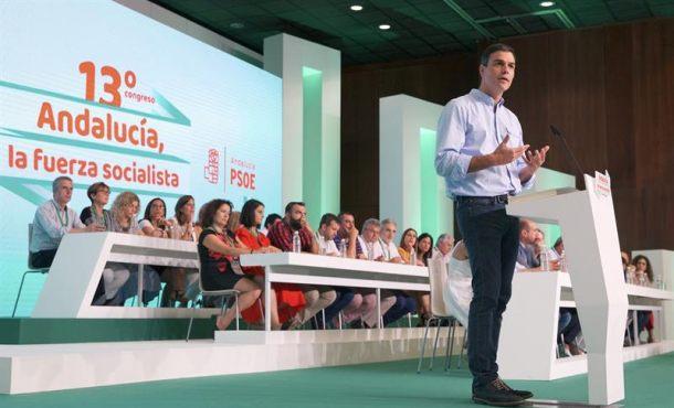 """Sánchez defiende a una España """"Nación de las naciones"""" en el Congreso del PSOE Andalucía"""