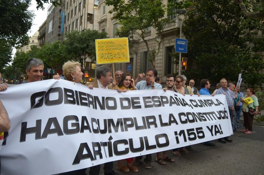 """«Catalanes Por La Ley» evalúa viajar a Madrid y resistirá """"hasta que la Leyse cumpla en Cataluña"""""""