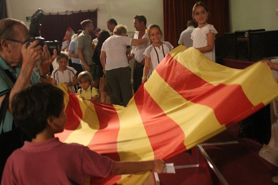 La bandera separatista 'Estrellada', catalanizada en IV Congreso de Somatemps