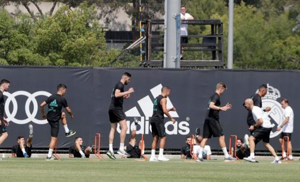 Primer entrenamiento de pretemporada del Real Madrid en Los Ángeles (California)