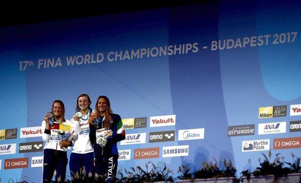 La española Mireia Belmonte medalla de plata en los 1.500 libre, con récord de España incluido