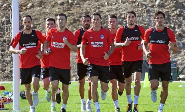 Atlético trabaja sobre defensas colectivas e individuales en su pretemporada en Segovia