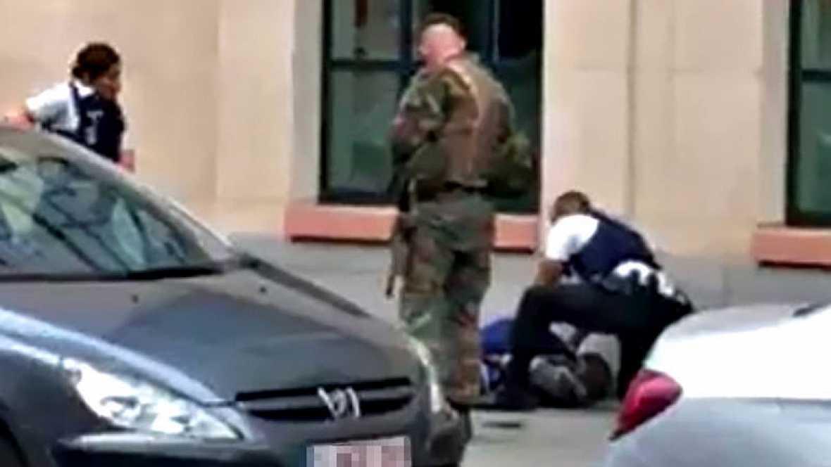 Abaten en Bruselas a un hombre que ha atacado a 2 soldados con un cuchillo