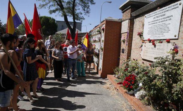 """ElPartido Comunista de España rinde homenaje a""""Las Trece Rosas"""", 78 años después"""