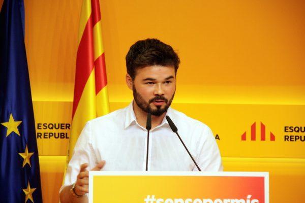 """Rifirrafe entre Erik y Rufián: """"Sí hablas en español, debes escribir Cataluña y no Catalunya"""""""
