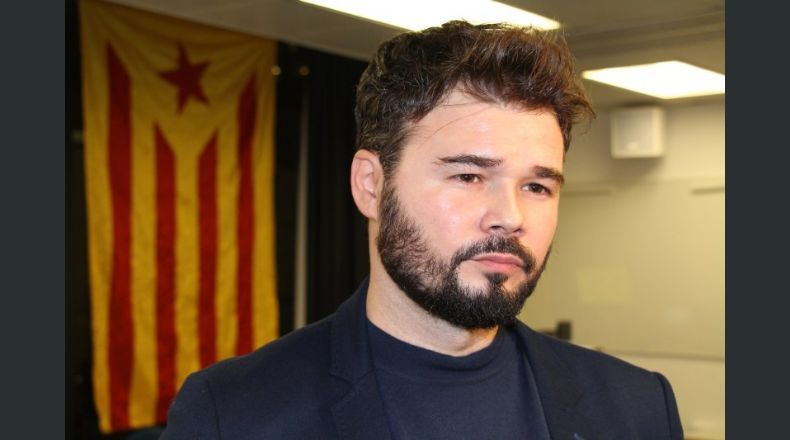 """Rufián: """"Apelamos a votantes de PP, Cs, PSOE y Podemos a defender el referéndum"""" de 1-O"""