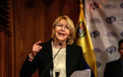 """Ortega: """"Desconozco esa remoción"""" de Maduro, """"sigo siendo la Fiscal General de Venezuela"""""""