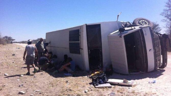 Muere una turista española en accidente de autocar en Grootfontein (Namibia) África