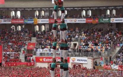 Siempre una o más banderitas separatistas aparecen en un evento cultural en Cataluña