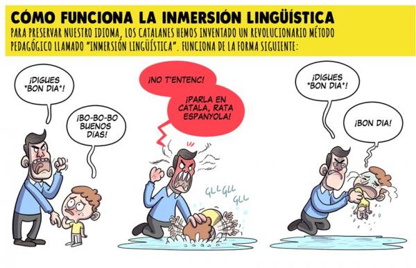 """Viñeta de 'El Jueves' denuncia maltratos de niños en Cataluña: """"¡Habla en catalán, rata española!"""""""