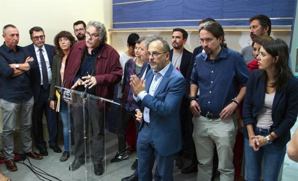 Podemos, proetarras y separatistas juntos contra la Legalidad en Cataluña