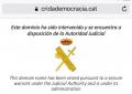 La Guardia Civil cierra las nuevas webs de entidades separatas Ómnium y ANC, y de la CUP