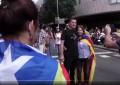 El terrorista Otegi entre los 350 mil separatistas del 11-S en Barcelona contra España