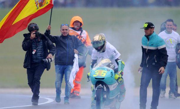 El español Joan Mir, primer título mundial de Moto3 en circuito australiano de Phillip Island