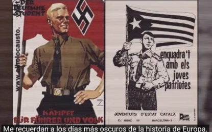 """La juventud catalana de VOX explica a los extranjeros """"qué está pasando en Cataluña"""""""