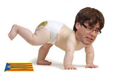 Los Mozos desobedecen la jueza de familia y el «bebé Puigdemont» hace caca sobre la estrellada