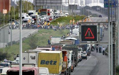 7 heridos en un accidente de 2 autobuses de separatistas que regresaban del 11-N separata