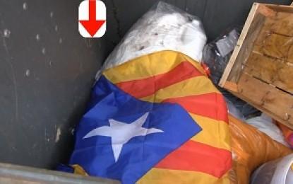 CAÍDA DEL SÍMBOLO SEPARATISTA CATALÁN