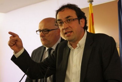 Josep Rull, esta mañana después de ser declarado comandante jefe de CDC [foto cdc]
