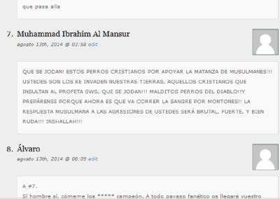 Mensaje escrito por Muhammad Ibrahim Al Mansur al comentario número 8 en la noticia relacionada
