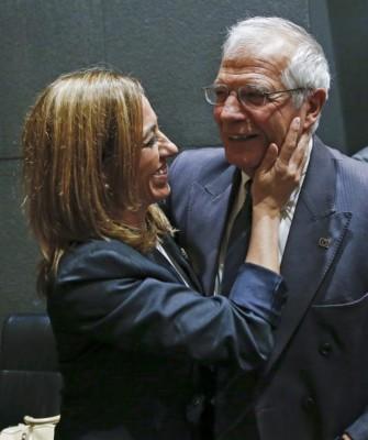 Carme Chacón y Josep Borrell - Foto EFE