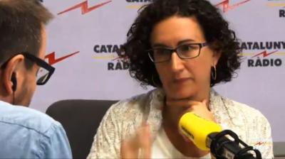 Marta Rovira, secretaria general de ERC, esta mañana en Cataluña Radio. Foto Cat. Radio