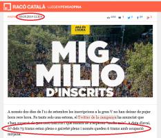 67 tramos de 73 son llenos o medio llenos y 6 son vacíos o medio vacíos - Diario Rincón Catalán